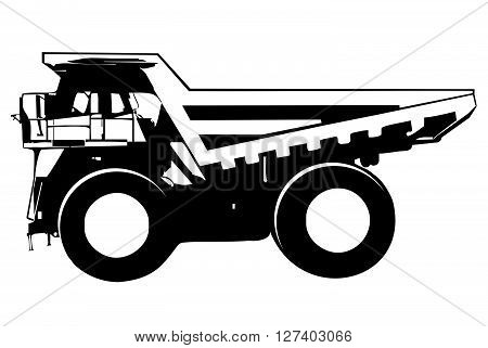 Dump truck .Eps 10 editable vector Illustration design