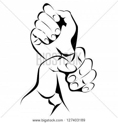 Hand Violence .Eps 10 editable vector Illustration design