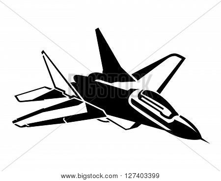 Jet Plane Symbol .Eps 10 editable vector Illustration design