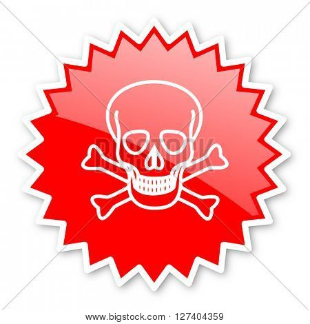 skull red tag, sticker, label, star, stamp, banner, advertising, badge, emblem, web icon