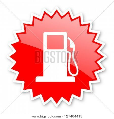 petrol red tag, sticker, label, star, stamp, banner, advertising, badge, emblem, web icon