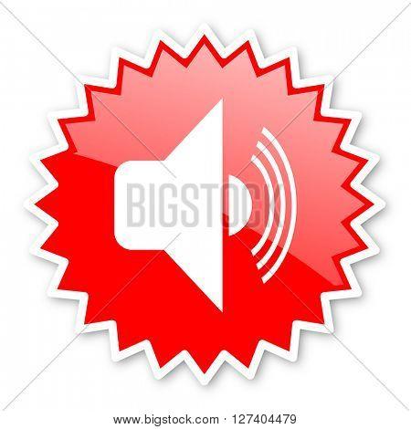 volume red tag, sticker, label, star, stamp, banner, advertising, badge, emblem, web icon