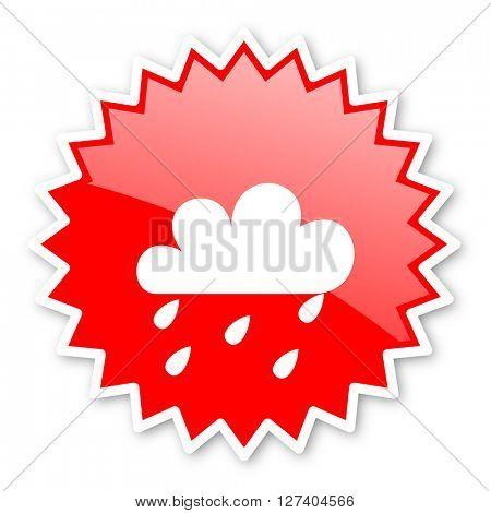 rain red tag, sticker, label, star, stamp, banner, advertising, badge, emblem, web icon
