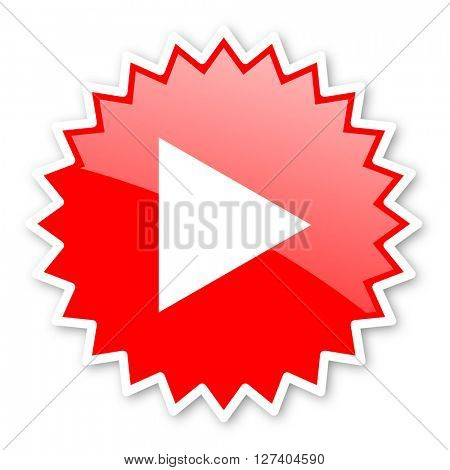 play red tag, sticker, label, star, stamp, banner, advertising, badge, emblem, web icon