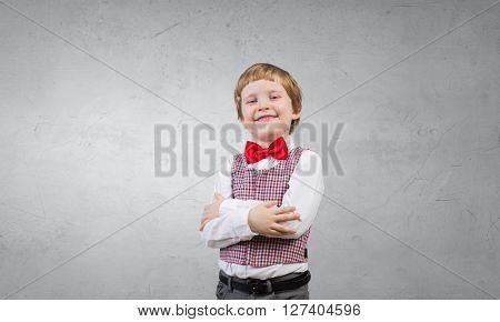 Happy preschooler boy