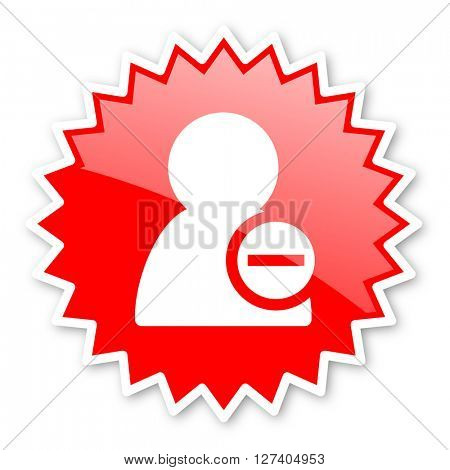 remove contact red tag, sticker, label, star, stamp, banner, advertising, badge, emblem, web icon