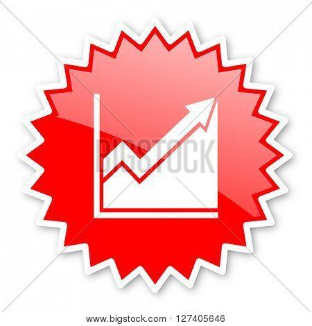 histogram red tag, sticker, label, star, stamp, banner, advertising, badge, emblem, web icon