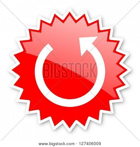 rotate red tag, sticker, label, star, stamp, banner, advertising, badge, emblem, web icon