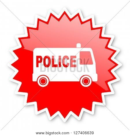 police red tag, sticker, label, star, stamp, banner, advertising, badge, emblem, web icon