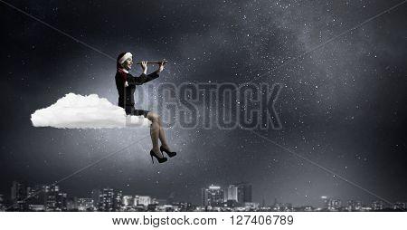 Santa woman in search