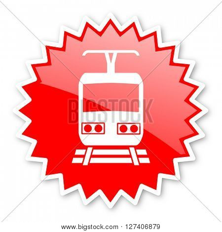 train red tag, sticker, label, star, stamp, banner, advertising, badge, emblem, web icon