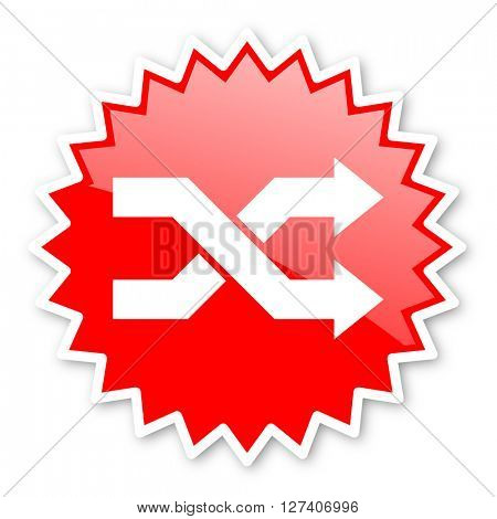 aleatory red tag, sticker, label, star, stamp, banner, advertising, badge, emblem, web icon