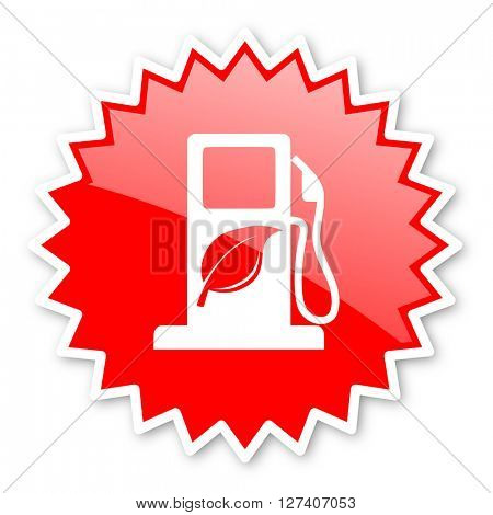 biofuel red tag, sticker, label, star, stamp, banner, advertising, badge, emblem, web icon