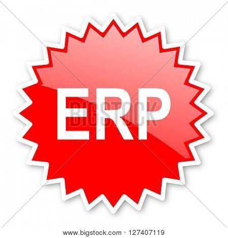 erp red tag, sticker, label, star, stamp, banner, advertising, badge, emblem, web icon