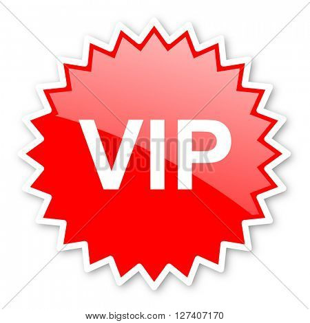 vip red tag, sticker, label, star, stamp, banner, advertising, badge, emblem, web icon