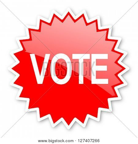 vote red tag, sticker, label, star, stamp, banner, advertising, badge, emblem, web icon
