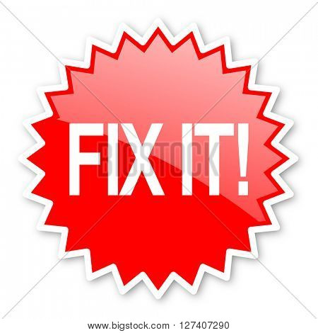 fix it red tag, sticker, label, star, stamp, banner, advertising, badge, emblem, web icon