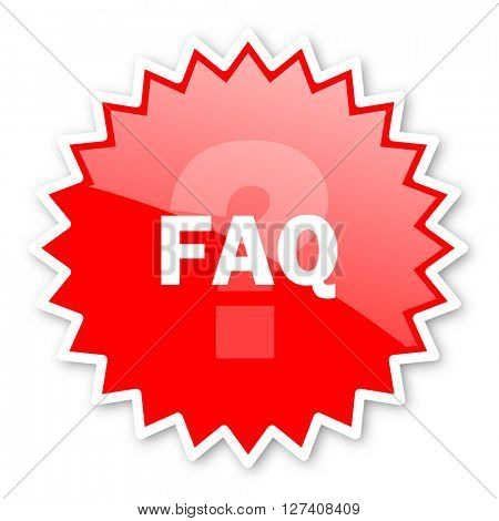 faq red tag, sticker, label, star, stamp, banner, advertising, badge, emblem, web icon