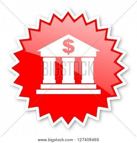 bank red tag, sticker, label, star, stamp, banner, advertising, badge, emblem, web icon