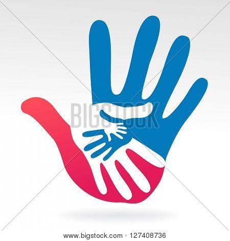 hands help illustration background