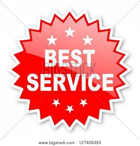 best service red tag, sticker, label, star, stamp, banner, advertising, badge, emblem, web icon