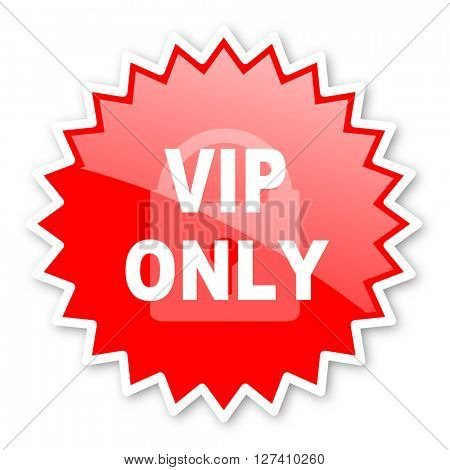 vip only red tag, sticker, label, star, stamp, banner, advertising, badge, emblem, web icon