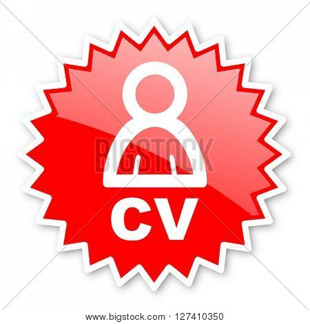 cv red tag, sticker, label, star, stamp, banner, advertising, badge, emblem, web icon