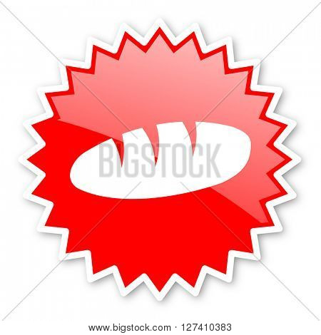 bread red tag, sticker, label, star, stamp, banner, advertising, badge, emblem, web icon