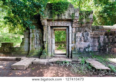 Old Temples In The Jungle, Angkor, Siem Reap, Cambodia