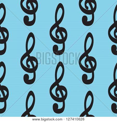 Violin key icon pattern hand drawn vector set icon illustration