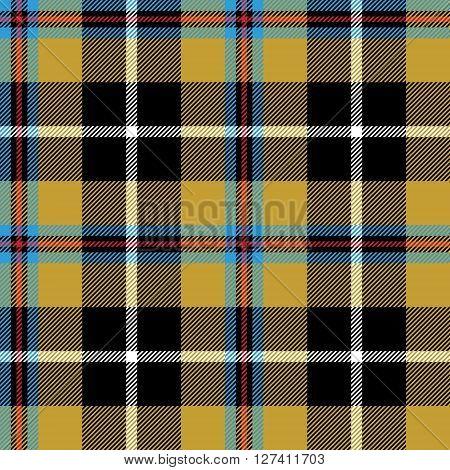 cornish tartan fabric texture seamless pattern. Vector illustration. EPS 10. No transparency. No gradients.