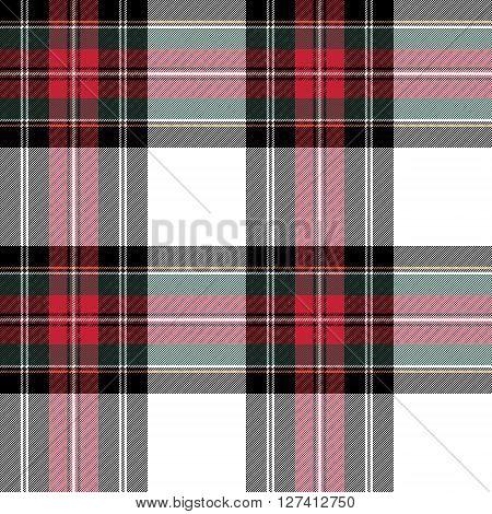 dress stewart tartan fabric texture seamless pattern. Vector illustration. EPS 10. No transparency. No gradients.