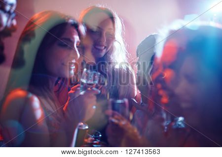 Girls with champagne