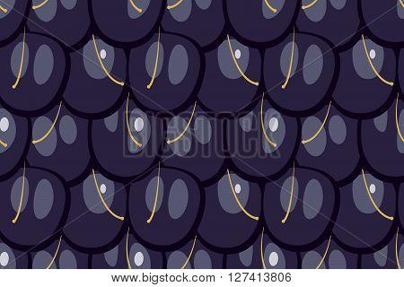 Seamless blackberry texture vector illustration flat design