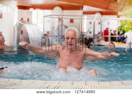 Old Man In Jacuzzi