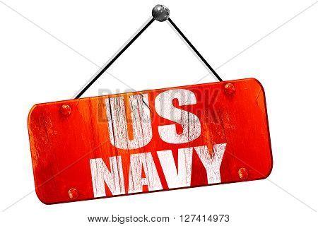 us navy, 3D rendering, red grunge vintage sign