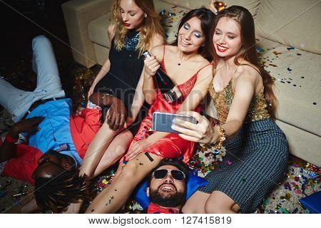 Selfie of girls