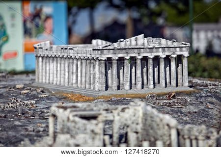 Mini copy of Parthenonas, the layout of the building of the Parthenon
