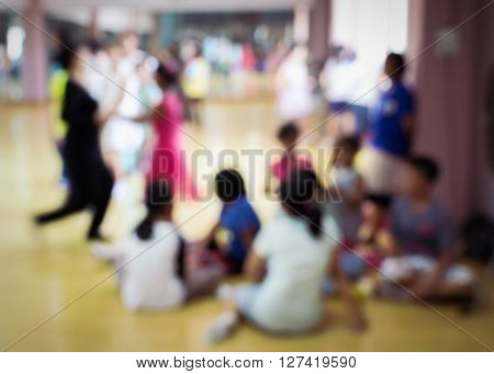 Blurred Of Children In Dancing Class