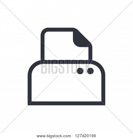 Printer Icon In Vector Format. Premium Quality Printer Symbol. Web Graphic Printer Sign On White Bac