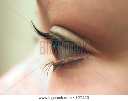 Contact Lens Inserted In Eye