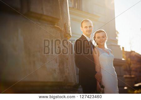 Wedding Walk Near The Cathedral