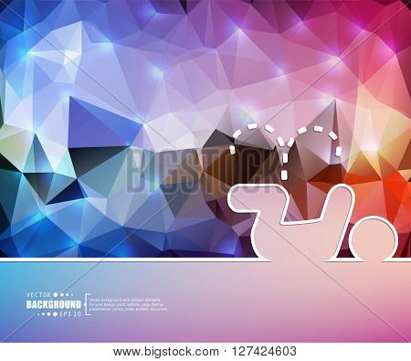 Creative vector pee. Art illustration template background. For presentation, layout, brochure, logo, page, print, banner, poster, cover, booklet, business infographic, wallpaper, sign, flyer.