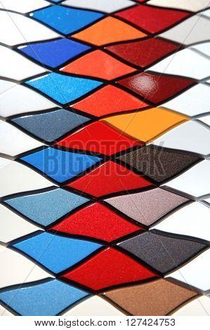 Automotive sheet metal color sample background