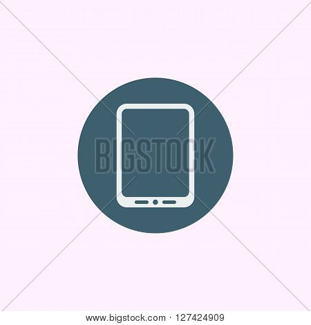 Tablet Icon In Vector Format. Premium Quality Tablet Symbol. Web Graphic Tablet Sign On Blue Circle