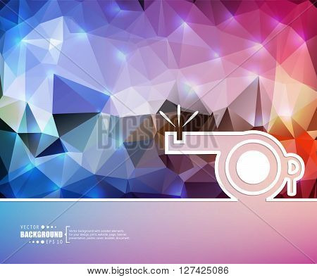 Creative vector whistle. Art illustration template background. For presentation, layout, brochure, logo, page, print, banner, poster, cover, booklet, business infographic, wallpaper, sign, flyer.