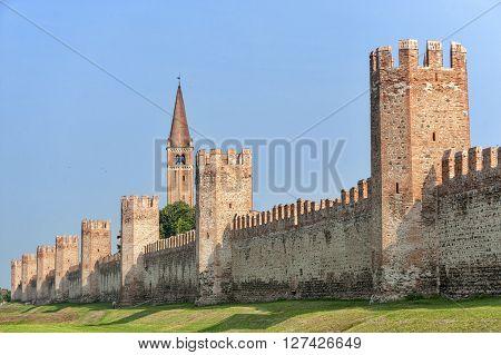 Montagnana (Padua Veneto Italy) - The medieval walls