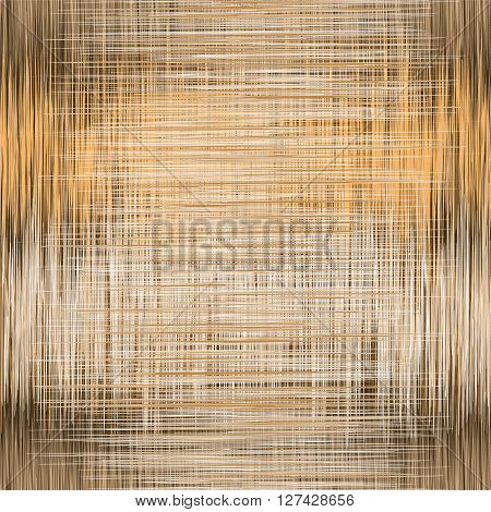 Seamless pattern with vertical and horizontal grunge intersected stripes in brownwhite orange colors