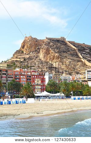 View of Alicante, Costa blanca, Spain