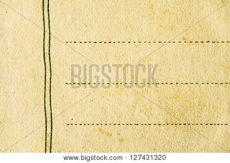 Postcard background horizontal paper, clear, empty, rough, rugged, texture